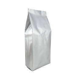 1/8lb Gusseted Bag- Glossy Silver with Valve(FQ-38106D)