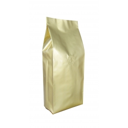 1/4lb Gusseted Bag- Glossy Gold with Valve(FQ-34101D)