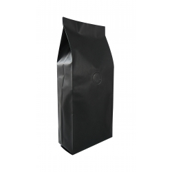 1/2lb Gusseted Bag- Matte Black with Valve