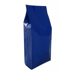 1 lb Gusseted Bag- Glossy Blue with Valve(FQ-10612D)