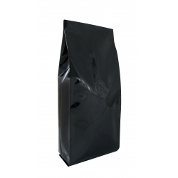 1 lb Gusseted Bag- Glossy Black with Valve(FQ-10615D)