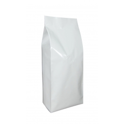1 lb Gusseted Bag- Glossy White with Valve(FQ-10618D)
