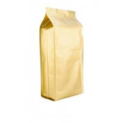 5 lb Gusseted Bag- Matte Gold with Italy Valve(FQ-30501A)