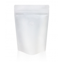 1/2lb Stand Up Bag - Matte White with Valve(FQ-22100MD)