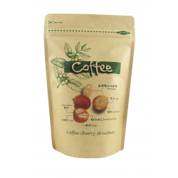 1/2lb Stand Up Bag- Coffee Cherry Pattern with Valve-Kraft