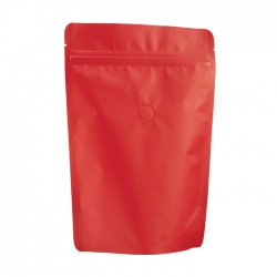 1/2lb Stand Up Bag - Matte Red with Valve(FQ-22103MD)