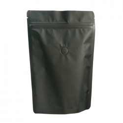 1/2lb Stand Up Bag - Matte Black with Valve(FQ-22105MD)