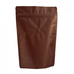 1/4lb Stand Up Bag - Matte Brown with Valve(FQ-24104MD)