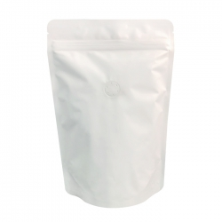 1 lb Stand Up Bag - White Kraft with Valve(FQ-12108WD)