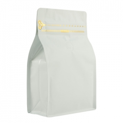 1/2lb Zipper Box Pouch White with Valve(FQ-28808MD)