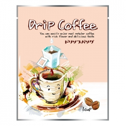 Drip Coffee Bag-Pink Smile Cup Pattern(FQ-391)