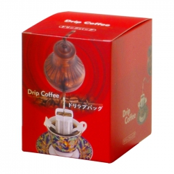 Drip Coffee Box-Coffee Kettle Pattern-Matte Red(FQ-36803)