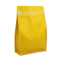 1/2lb Zipper Box Pouch Yellow with Valve(FQ-28819MD)