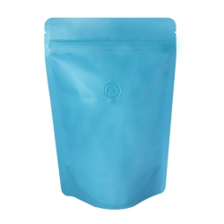 1/4lb Stand Up Bag - Matte Sky Blue with Valve(FQ-24117MD)