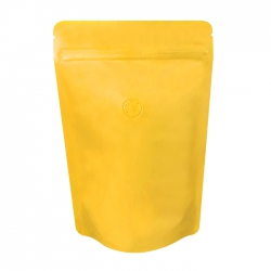 1/4lb Stand Up Bag - Matte Yellow with Valve(FQ-24119MD)