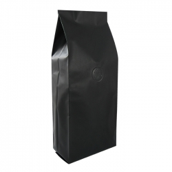 1/8lb Gusseted Bag- Matte Black with Valve(FQ-38105D)