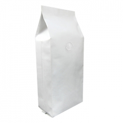 1/2lb Gusseted Bag- White  Kraft with Valve(FQ-20617WD)