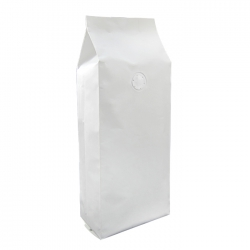 2.2lb Gusseted Bag-White  Kraft with Italy Valve(FQ-30107WA)