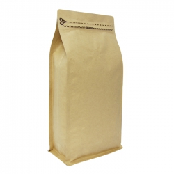 2.2lb-Zipper Box Pouch Kraft with Valve(FQ-38807A)