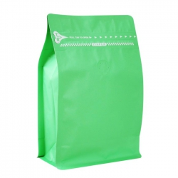 1/2lb Zipper Box Pouch Light Green with Valve(FQ-28821MD)