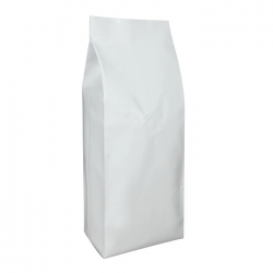 1/2lb Gusseted Bag- Matte White with Valve