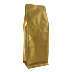 1/2lb Narrow Box Pouch-Matte Golden Brown with Valve(FQ-2980
