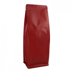 1/2lb Narrow Box Pouch-Matte Deep Wine with Valve(FQ-29801GM