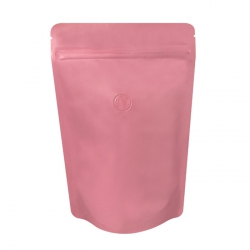 1/2lb Stand Up Bag - Matte Pink with Valve(FQ-22116MD)