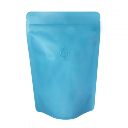 1/2lb Stand Up Bag - Matte Sky Blue with Valve(FQ-22117MD)