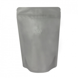1/2lb Stand Up Bag - Matte Gray with Valve(FQ-22118MD)