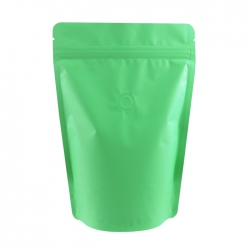 1/2lb Stand Up Bag - Matte Light Green with Valve(FQ-22121MD